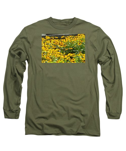 Long Sleeve T-Shirt featuring the photograph Flowers A Go Go by Jake Hartz