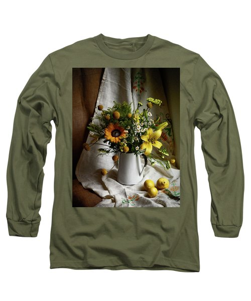 Flowers And Lemons Long Sleeve T-Shirt