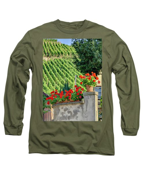 Flowers And Vines Long Sleeve T-Shirt by Alan Toepfer