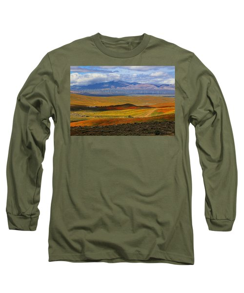 Long Sleeve T-Shirt featuring the photograph Flowers Carpet by Viktor Savchenko