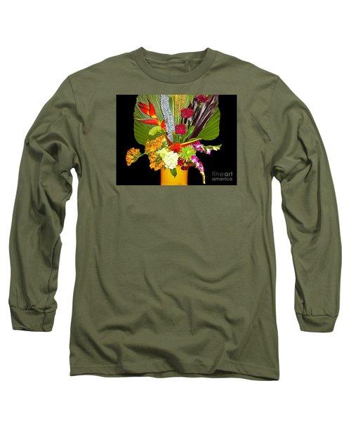 Long Sleeve T-Shirt featuring the photograph Flowers - Fan Arrangement by Merton Allen