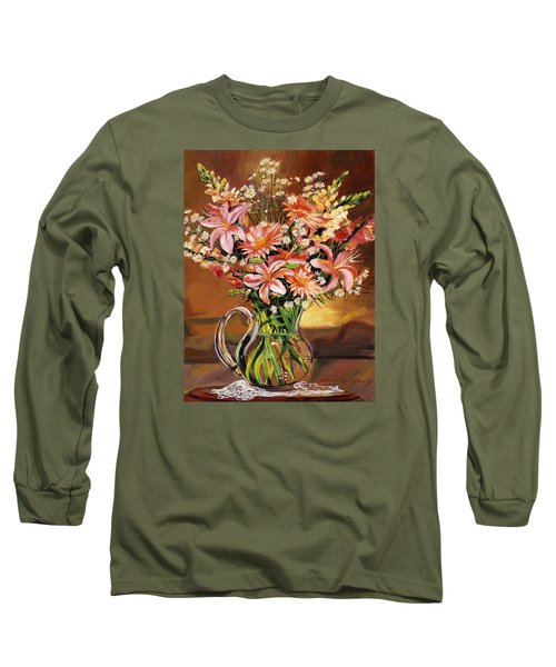 Flowers In Glass Long Sleeve T-Shirt