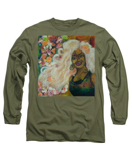 Flowers In Her Hair Long Sleeve T-Shirt