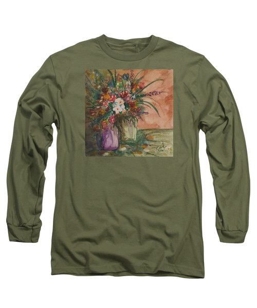 Flowers In Vases 2 Long Sleeve T-Shirt