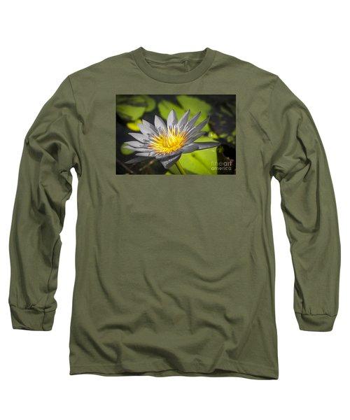 Flowers Of Grey Long Sleeve T-Shirt