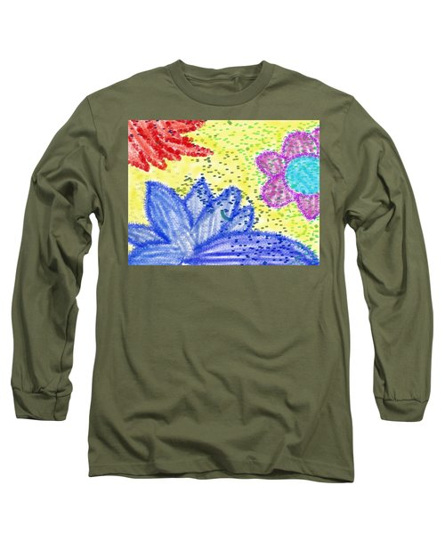 Flowery Lotus Long Sleeve T-Shirt
