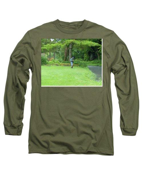 Fly Fishing On Trout Run Creek Long Sleeve T-Shirt