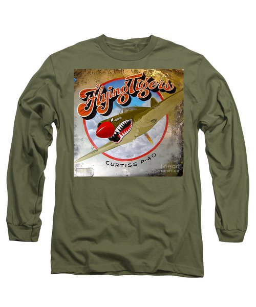 Flying Tigers Long Sleeve T-Shirt by Alan Johnson