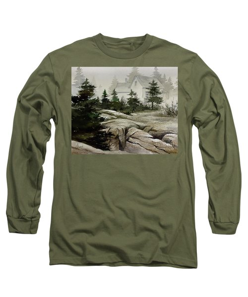 Long Sleeve T-Shirt featuring the painting Fog At The Coast by James Williamson