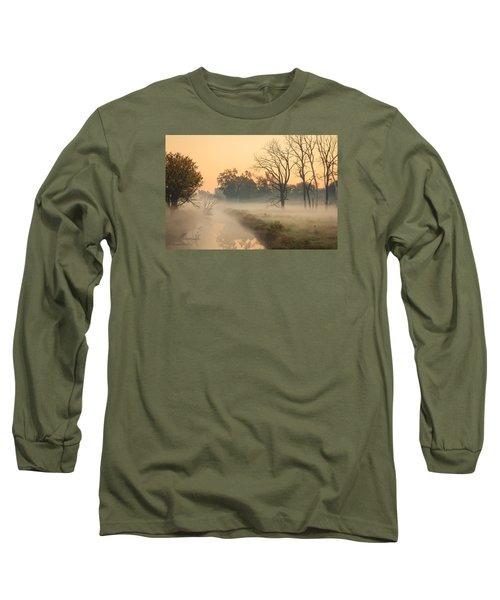 Foggy Fall Morning On Gary Avenue Long Sleeve T-Shirt by Joni Eskridge
