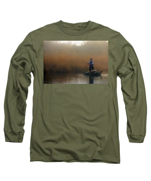 Foggy Fishing Long Sleeve T-Shirt