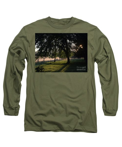 Long Sleeve T-Shirt featuring the photograph Foggy Morning by Mark McReynolds