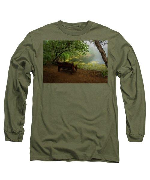 Foggy Morning On The Pond Long Sleeve T-Shirt