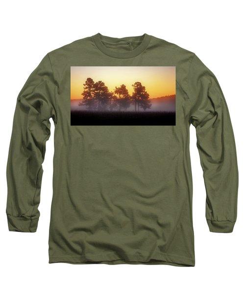 Foggy Ozark Morning  Long Sleeve T-Shirt