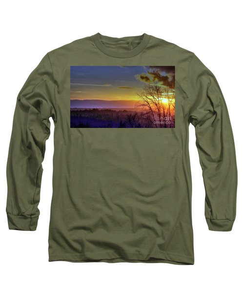 Foggy Sunset Long Sleeve T-Shirt by Victor K