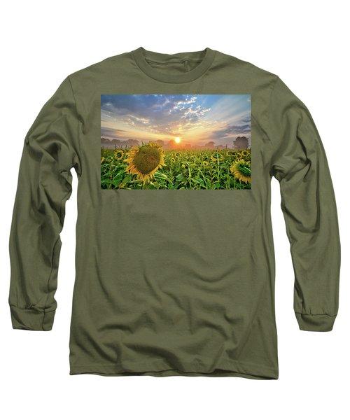 Foggy Yellow Fields Long Sleeve T-Shirt
