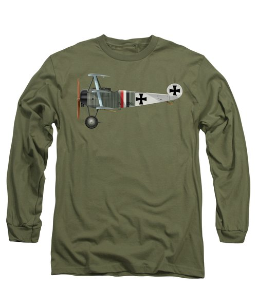 Fokker Dr.1 - 214/17 - March 1918 Long Sleeve T-Shirt