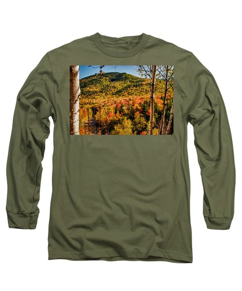 Foliage View From Crawford Notch Road Long Sleeve T-Shirt