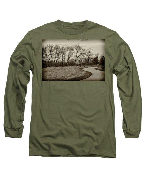 Long Sleeve T-Shirt featuring the photograph Follow The Path by Elvira Butler