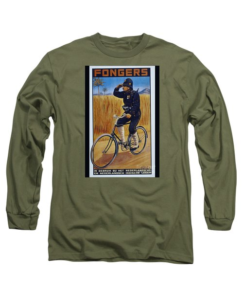 Fongers In Gebruik Bil Nederlandsche En Nederlndsch Indische Leger Vintage Cycle Poster Long Sleeve T-Shirt