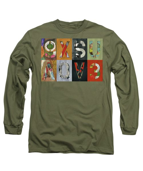 8 Number Letter Grid  Long Sleeve T-Shirt