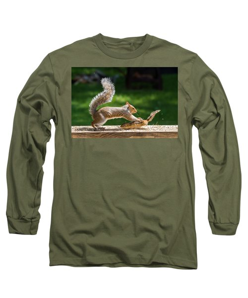 Food Fight Squirrel And Chipmunk Long Sleeve T-Shirt