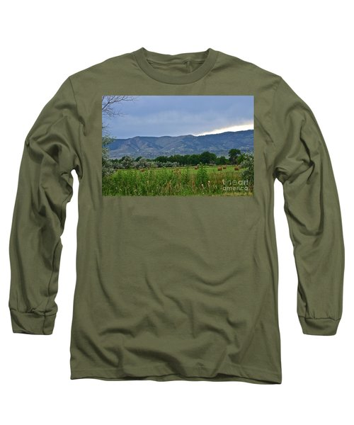 Foothills Of Fort Collins Long Sleeve T-Shirt