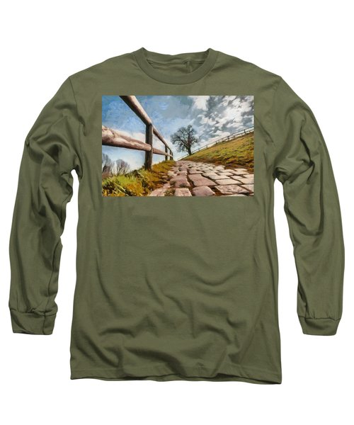 Footpath Long Sleeve T-Shirt by Sergey Simanovsky