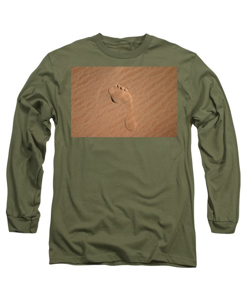 Footprint In The Sand Long Sleeve T-Shirt