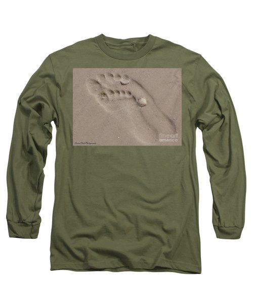 Footprints In The Sand Long Sleeve T-Shirt
