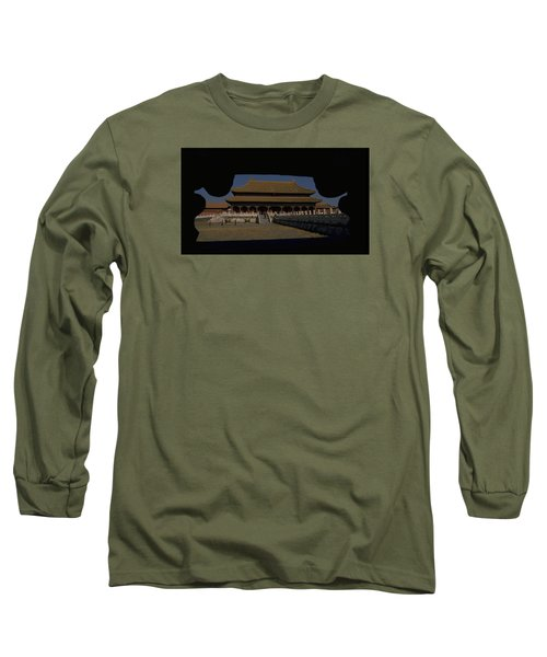 Long Sleeve T-Shirt featuring the photograph Forbidden City, Beijing by Travel Pics