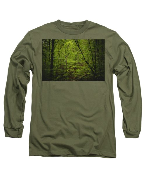 Long Sleeve T-Shirt featuring the photograph Forest Beckons by Shane Holsclaw
