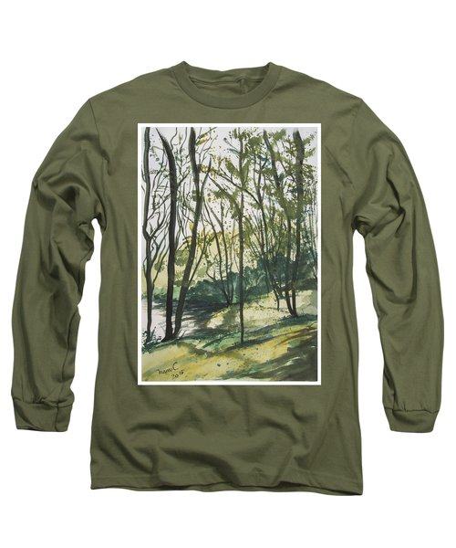 Forest By The Lake Long Sleeve T-Shirt by Manuela Constantin