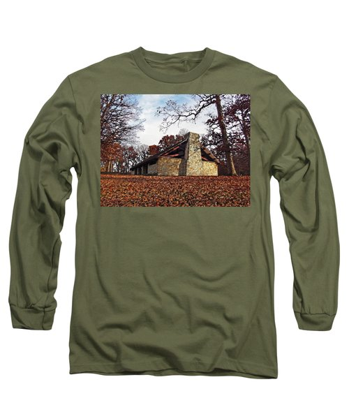 Forest Field House 3 Long Sleeve T-Shirt by Cedric Hampton