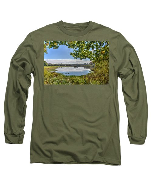 Forest Lake Through The Trees Long Sleeve T-Shirt