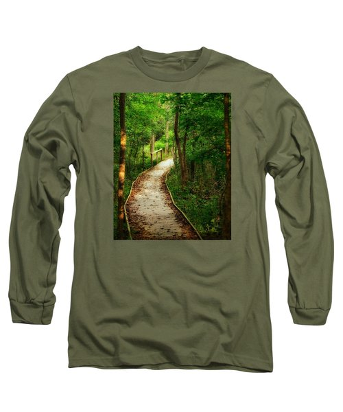 Long Sleeve T-Shirt featuring the photograph Forest Path by Nikki McInnes