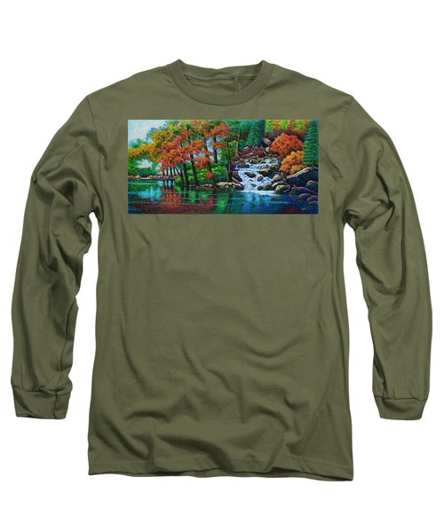 Forest Stream II Long Sleeve T-Shirt by Michael Frank