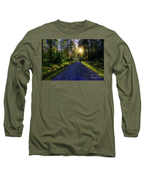 Forest Sunlight Long Sleeve T-Shirt by Ian Mitchell