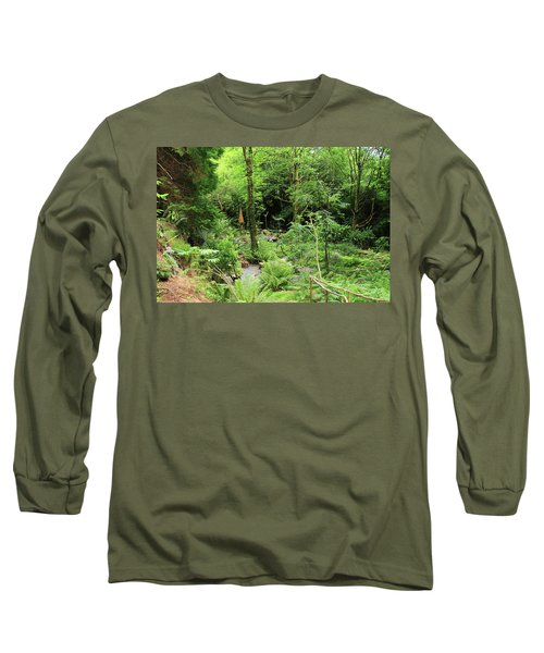 Long Sleeve T-Shirt featuring the photograph Forest Walk by Aidan Moran