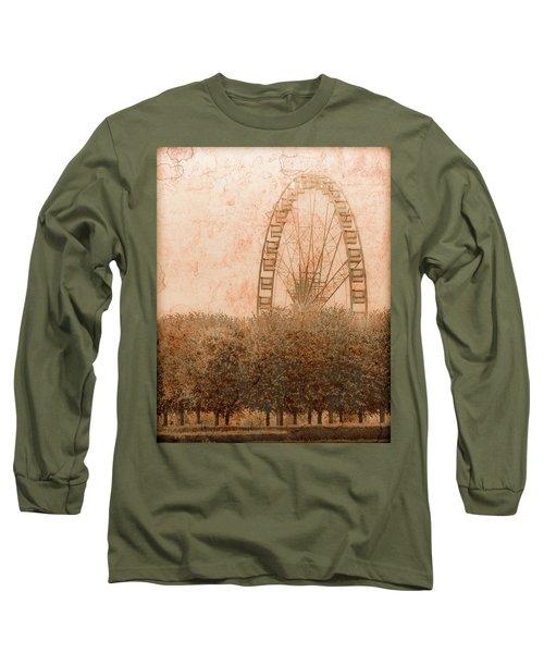 Paris, France - Forest Wheel Long Sleeve T-Shirt