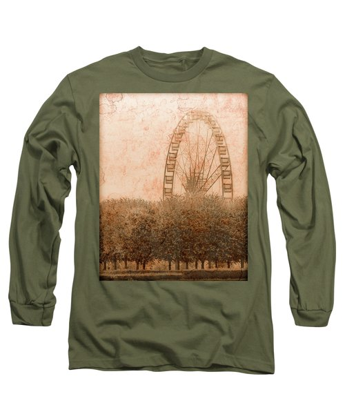 Paris, France - Forest Wheel Long Sleeve T-Shirt
