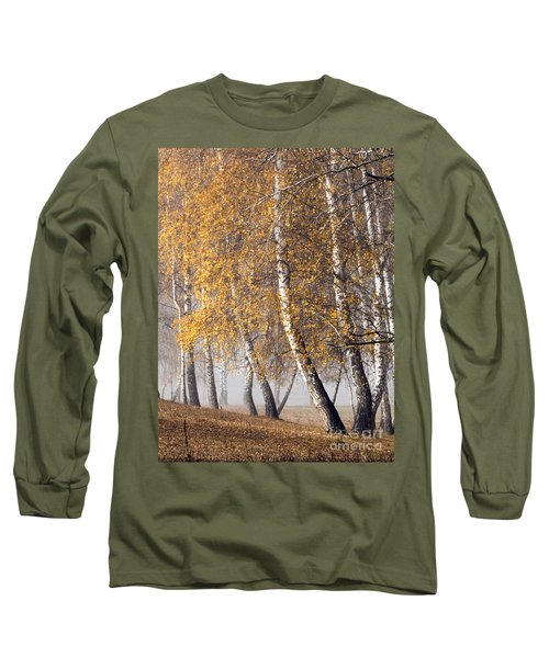 Forest With Birches In The Autumn Long Sleeve T-Shirt