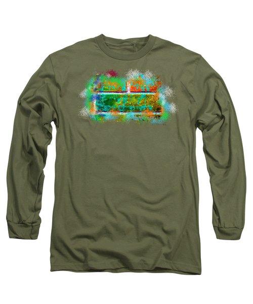 Forgive Brick Orange Tshirt Long Sleeve T-Shirt by Tamara Kulish
