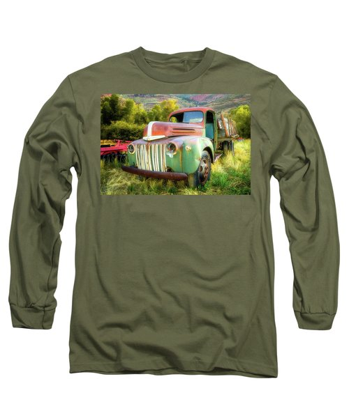 Forgotten - 1945 Ford Farm Truck Long Sleeve T-Shirt