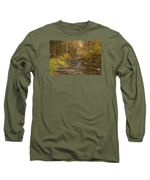 Fork River Ablaze In Color Long Sleeve T-Shirt