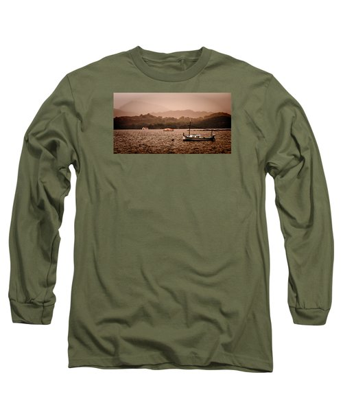 Fornells Bay In Menorca Island - Even Most Beautiful Places Have Secrets To Hide By Pedro Cardona Long Sleeve T-Shirt