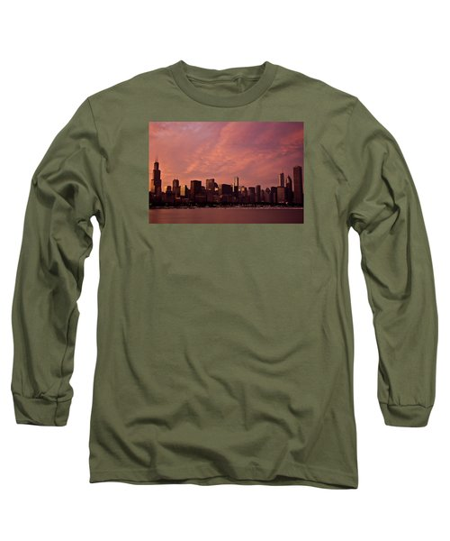 Fort Dearborn Long Sleeve T-Shirt by Michael Nowotny