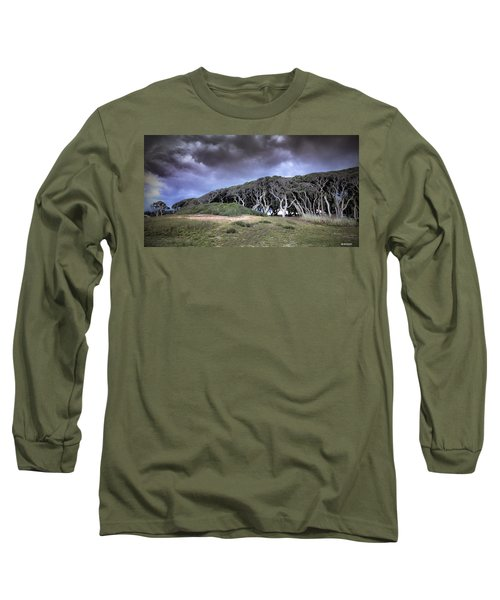 Fort Fisher Stormy Sunset Long Sleeve T-Shirt by Phil Mancuso