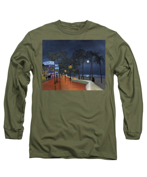 Fort Lauderdale Beach At Night Long Sleeve T-Shirt