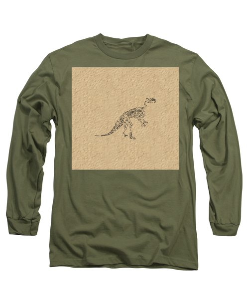 Fossils Of A Dinosaur Long Sleeve T-Shirt by Anton Kalinichev